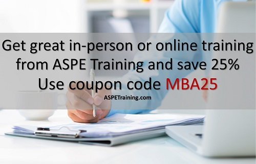 Get 25% off training from ASPE