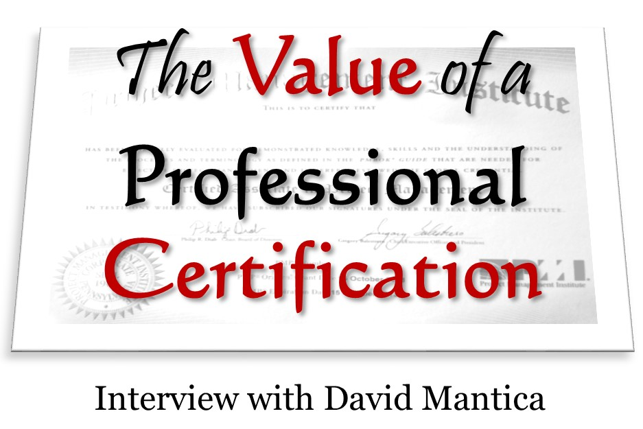 MBA020: The Value of Certifications – Interview with David Mantica