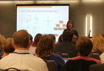 Angela Wick presenting at BA World Chicago