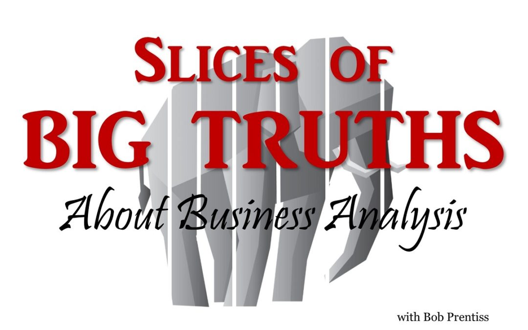 Slices of Big Truths about Business Analysts