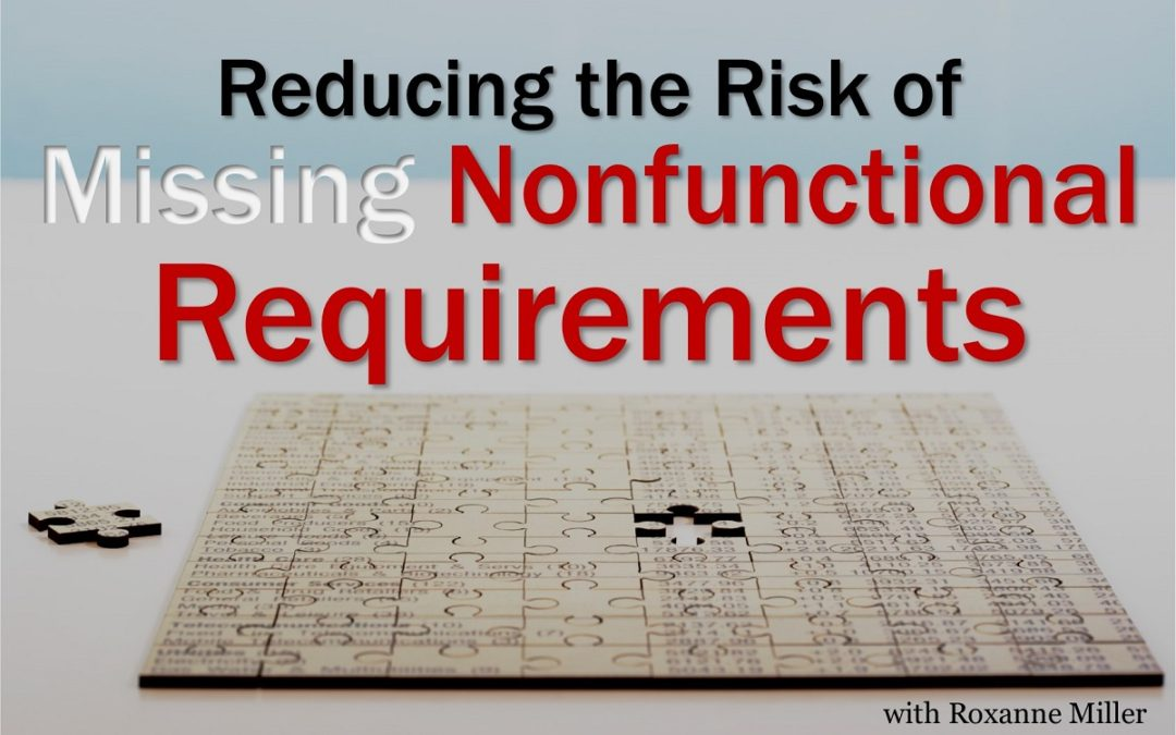 MBA092: Reducing the Risk of Missing Non-Functional Requirements