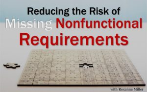 Reducing the Risk of Missing Non-Functional Requirements