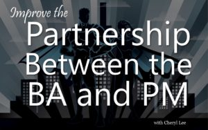 Improve the partnership between the business analyst and project manager