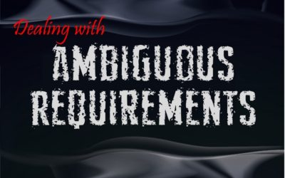 MBA110: Managing Ambiguous Requirements