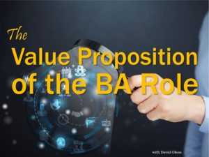 The Value Proposition of the BA Role