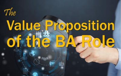 MBA114: Value Proposition of the BA Role