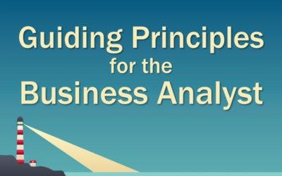 MBA126: Guiding Principles for the Business Analyst