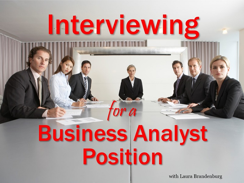 Interviewing for a Business Analyst Position