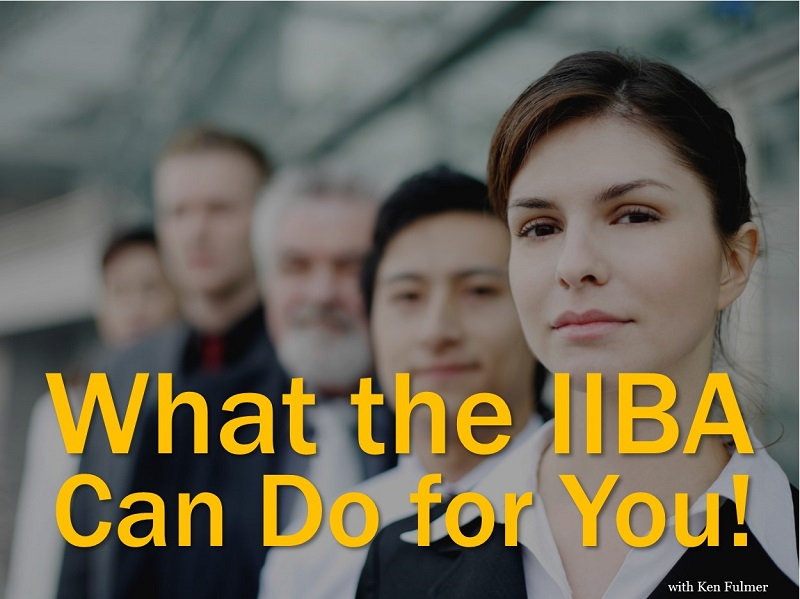 What the IIBA Can Do for You!