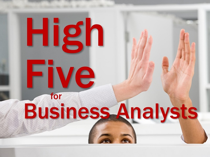MBA150: A High Five for Business Analysts