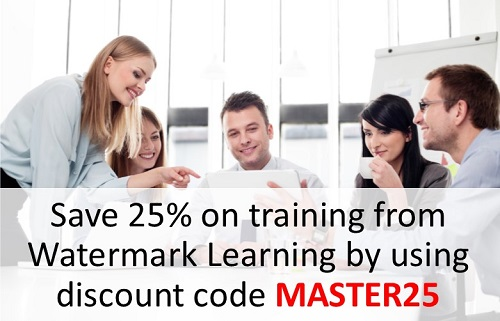 Save 25% on training from Watermark Learning