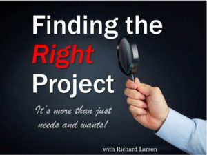 Finding the right project
