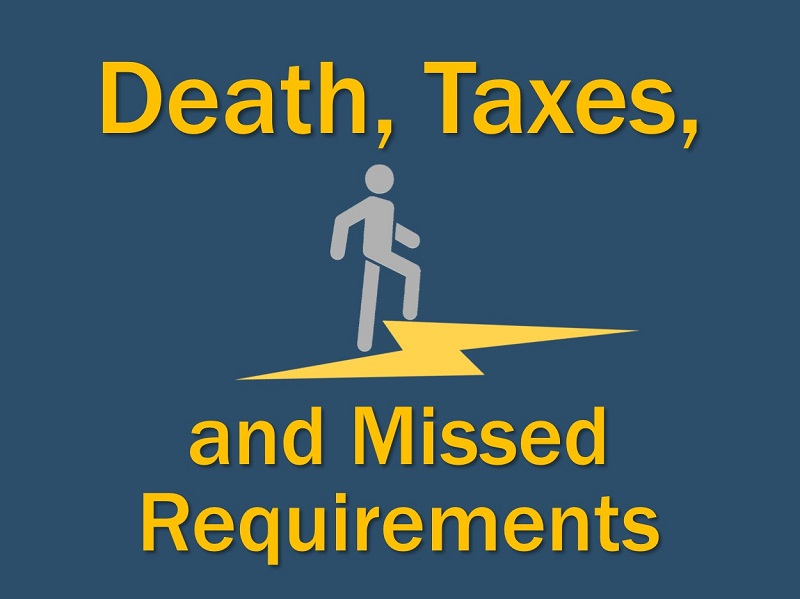 Lightning Cast: Death, Taxes, and Missed Requirements